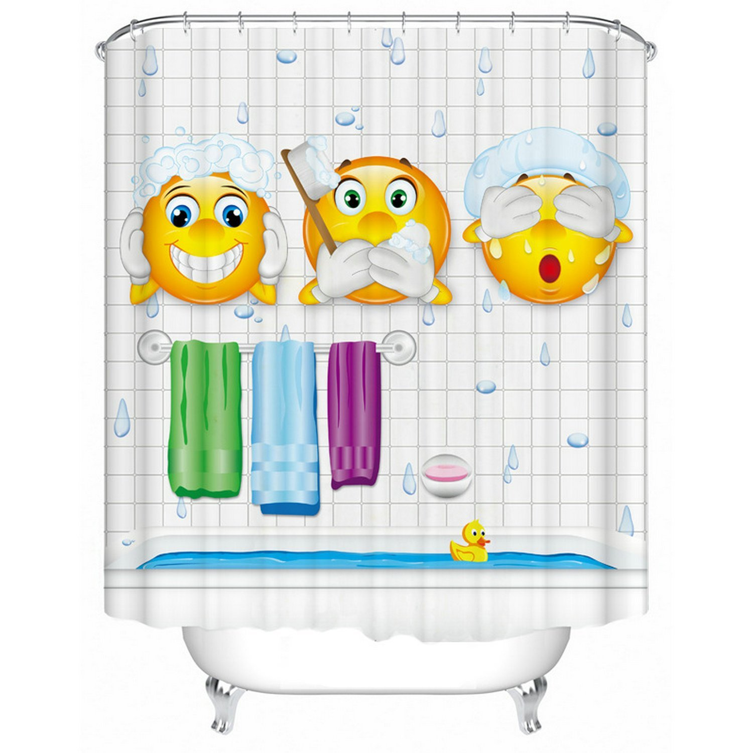 CHARMHOME Cartoon Expression Design Bathroom Shower