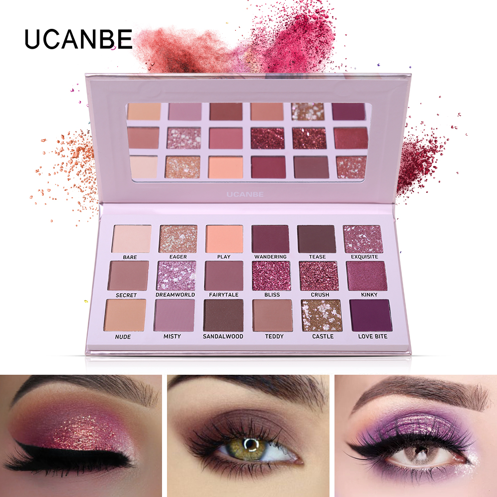 Self-Conscious Beauty Glazed All Make Up Eye Shadow Platte Matte Shimmer Glitter Natural Party Fashion Cosmetic Long Lasting Waterproof Kit Hot Excellent In Quality