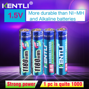 Аккумулятор KENTLI для термометра, литий-ионная аккумуляторная батарея AAA 1,5 В, 1180mWh, 4 шт.