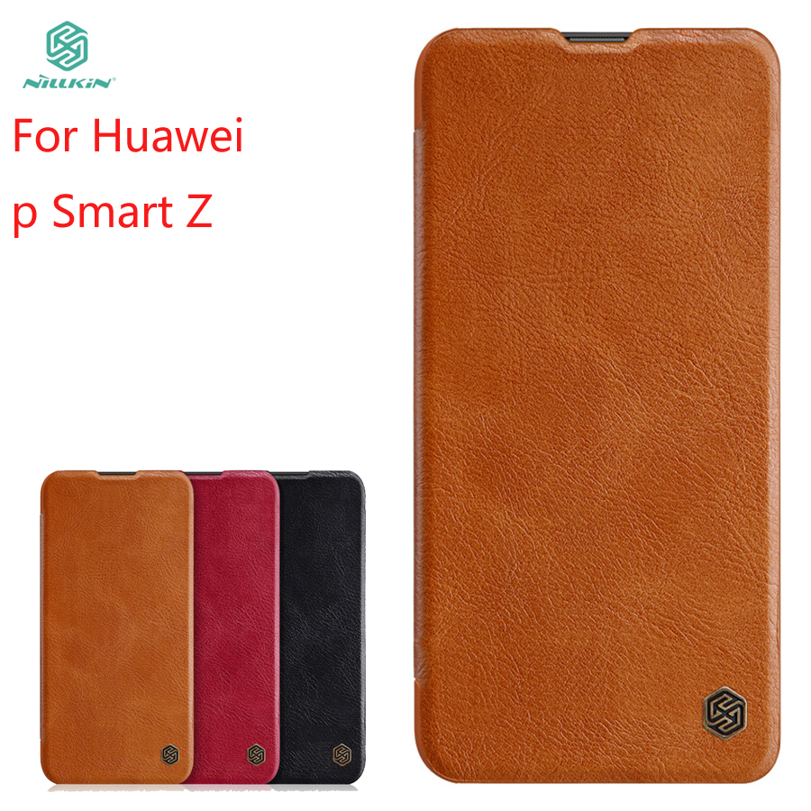 For Huawei P Smart Z Case Cover NILLKIN PU Leather Flip Phone