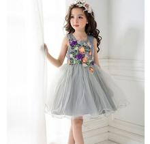 Meng Baby 2017 Flower Children's Girl Costumes For kids Princess Party Wedding Dresses Girls Clothes Teen Girl Evening Dress