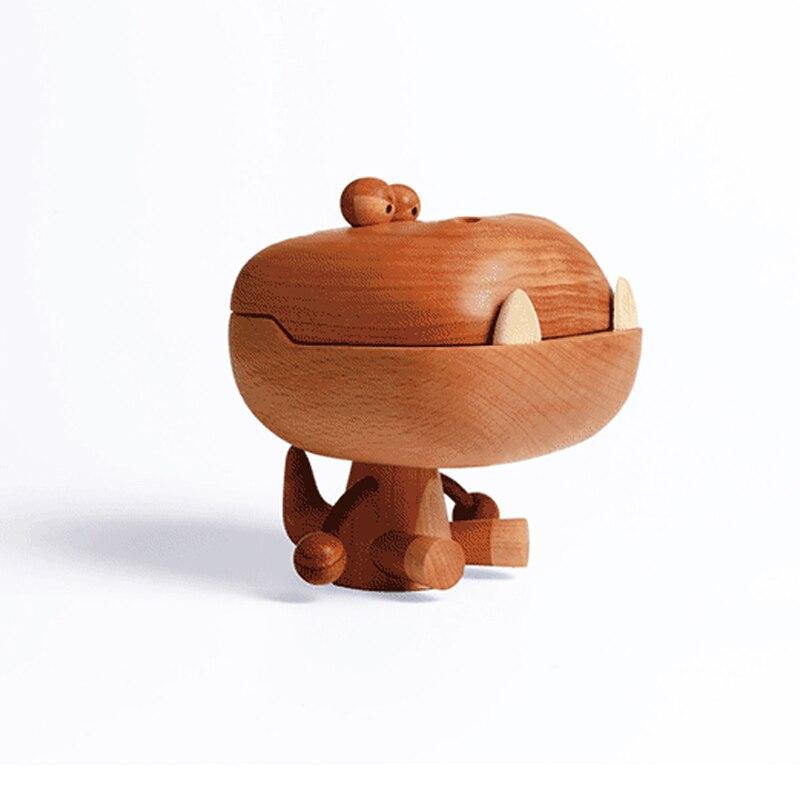 Grande bouche en bois Dragon hêtre bois Art jouet cadeau d'anniversaire Original conçu décoration chêne dessin animé Dragon - 6