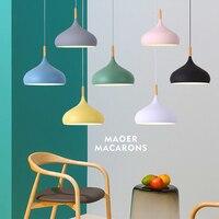 Pendant Lights Modern Industrial Lamp Nordic Hanglamp Loft Dining Room Light Fixtures Living Room Home Bar LED Colorful Wooden