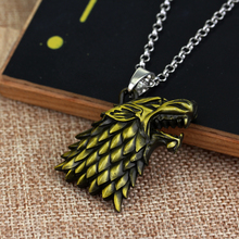 Game Of Thrones House Stark Dire Wolf Necklace