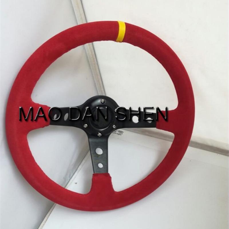 2017 Hot  steering wheel / racing modified steering wheel / nubuck leather steering wheel feels good