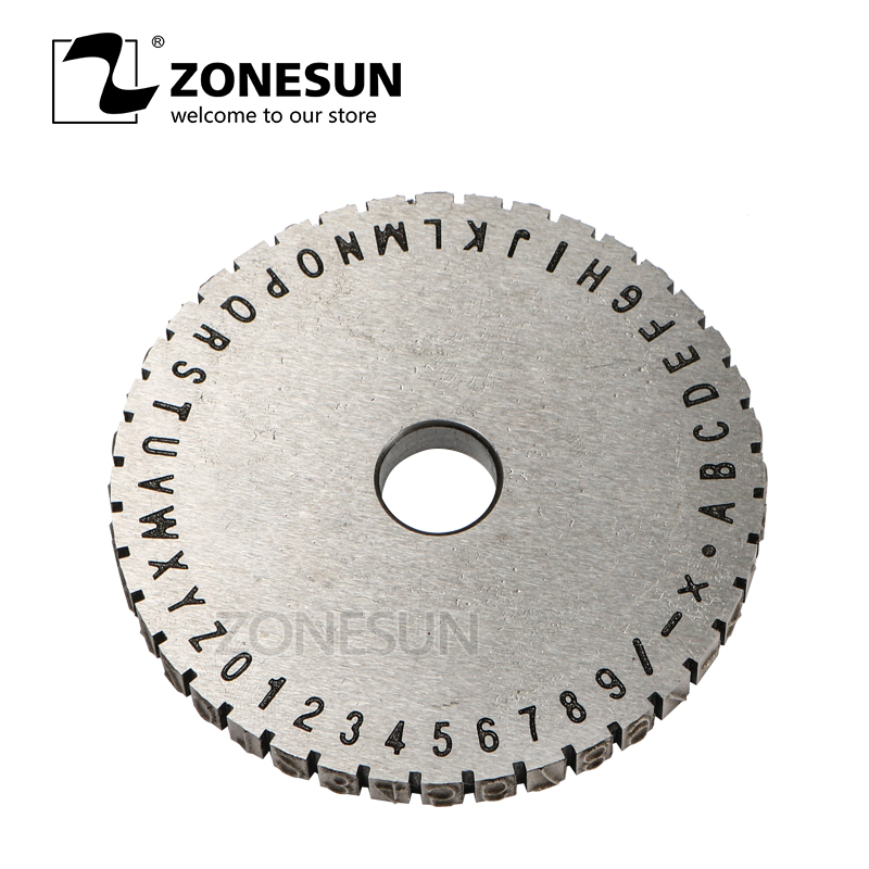 ZONESUN Embossing Machine1 Gear For Manual Steel Label Engrave Tool
