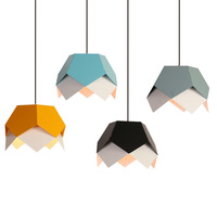 Nordic Lamp Creative Diamond Geometry Special Led Pendant Lights Cafe Hang Lamp Bedroom Dining Light Pendant Lamp Free Shipping