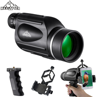 Monocular For Hunting Tools 13x50 Telescope Waterproof Monocolo High Power Professional BAK4 with Phone Adapter Handle MAXLAPTER