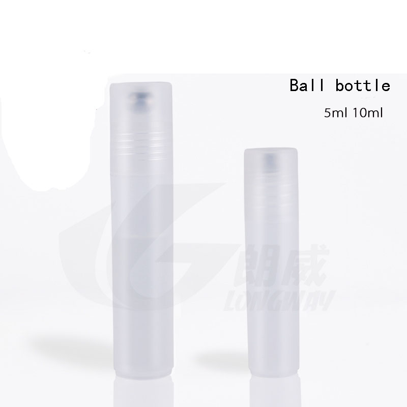 ddcf0bffe2fb37 200 sztuk hurtownie pojemność 10 ml puste butelki plastikowe PP piłka, 10  ml rolki butelki Śmietany, plastic10ml rolki butelki perfum