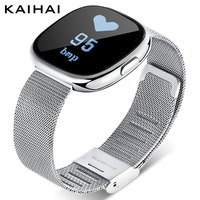 KAIHAI wristband Blood Pressure Heart Rate Monitor fitness watches for women smart bracelet femme Alarm Clock Reminder silver H2