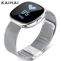KAIHAI Wristband Blood Pressure Heart Rate Monitor Fitness Watches For Women Smart Bracelet Femme Alarm Clock