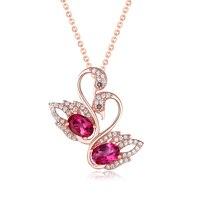 ZT милые Для женщин 925 серебро белый или розовый Цвет Цепочки и ожерелья 1.0 карат топаз кулон ювелирные изделия для Для женщин Юбилей подарок
