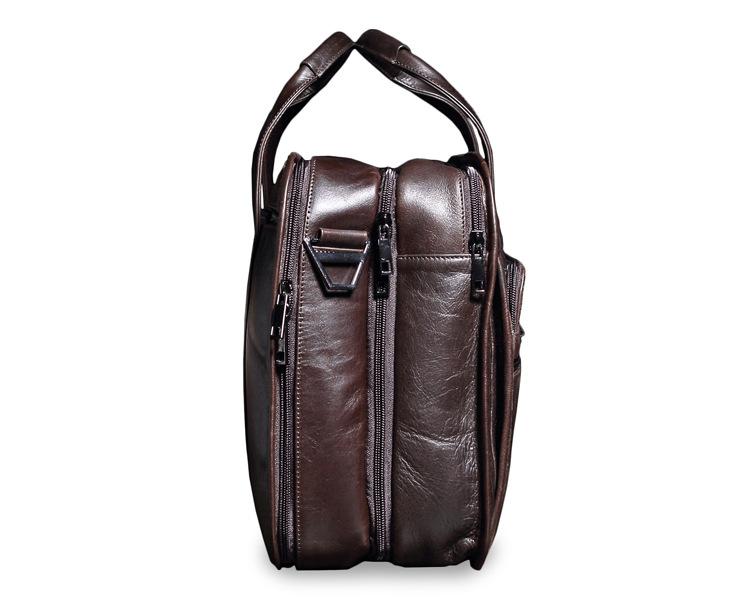 Topdudes.com - Natural Soft Genuine Leather Business Briefcase