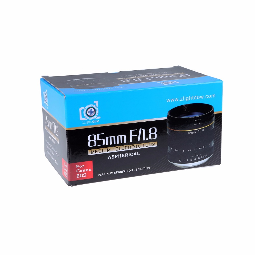 Lightdow 85mm F1.8-F22 Manual Focus Portrait Lens Camera Lens for Canon EOS 550D 600D 700D 5D 6D 7D 60D DSLR Cameras 13