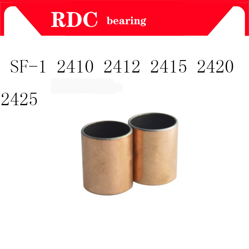 Free Shipping SF-1 2410 2412 2415 2420 2425 Self Lubricating Composite Bearing Bushing Sleeve 24 X 27 X 10 12 15 20 25mm SF1