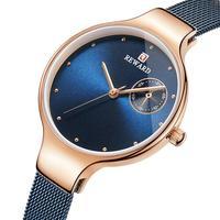 Waterproof Ladies Watch Women Quartz Watch 2019 New Fashion Ultra thin Fine Mesh Steel Belt Watch