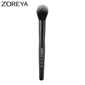 Zoreya Brand Powder Blush Brush Professional Makeup Brush Black Wooden Handle Cosmetics Make up Brushes Tools Soft Foundation