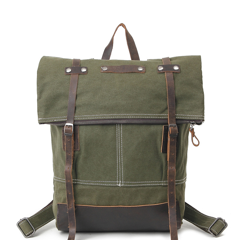 Army green Men's Canvas Backpack Travel Schoolbag Male Backpack Male Large Capacity Rucksack School Bag Laptop Backpacks H020 army green canvas backpack bag rucksack army military backpack leather canvas book bag rucksack school bag