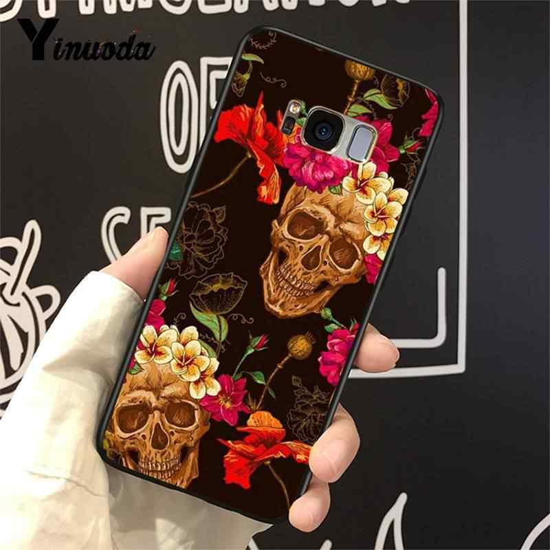 Yinuoda Kılıf için Galaxy S9 Catrine güzel gül kız Kafatası Sanat Mükemmel Yumuşak Telefon samsung kılıfı Galaxy S4 S5 S6 S7 s8 S9