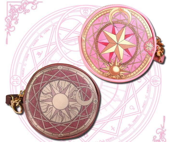 2018 Hot Sales! Variety Sakura magic card girl purse purse Cosmetics bag coin pocket