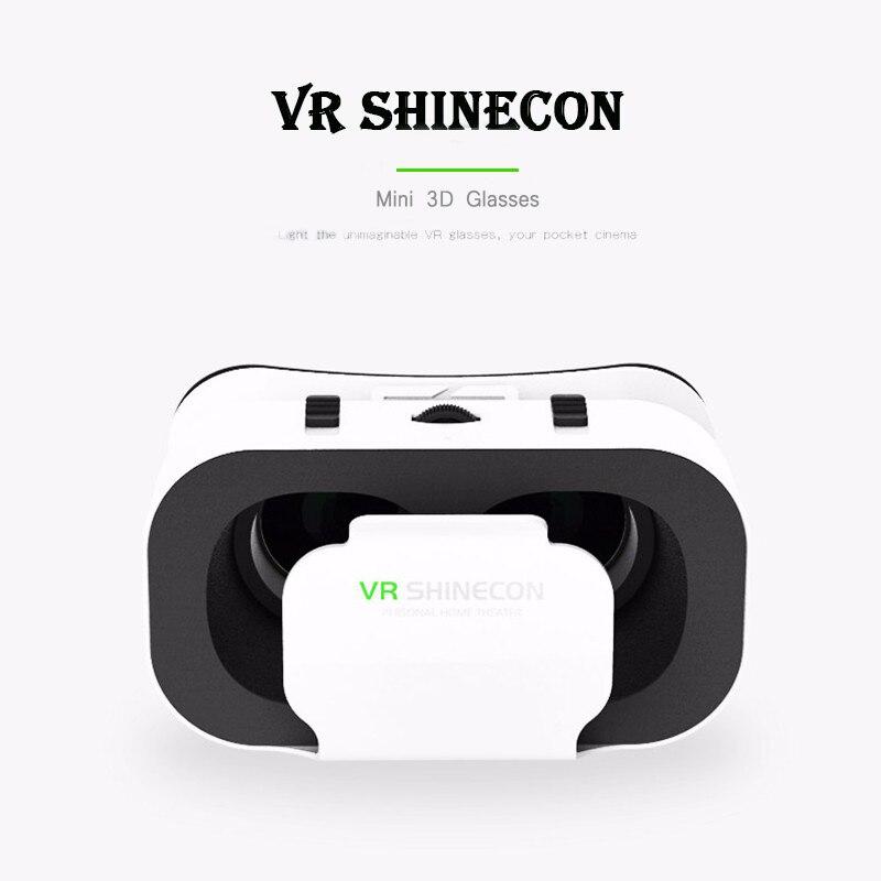 VR Shinecon 5,0 Stirnband VR Headmount 4,7-6,0 zoll Mobile 3D Film Spiele Virtuelle Realität Gläser für Smartphone Mini lightwight