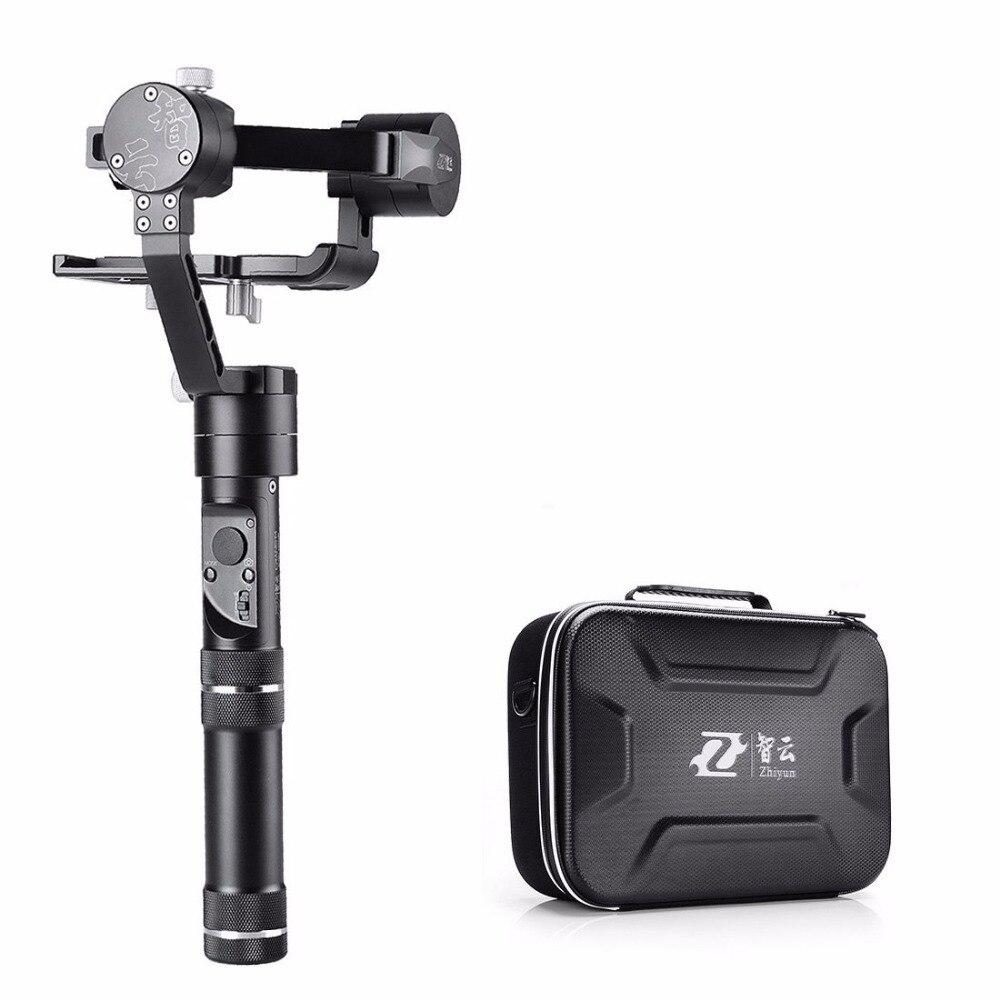 Zhiyun Grue M 3 Axes De Poche Stabilisateur Cardan pour DSLR Caméra Smartphone GoPro Hero 4 5 Xiaoyi D'action Caméra