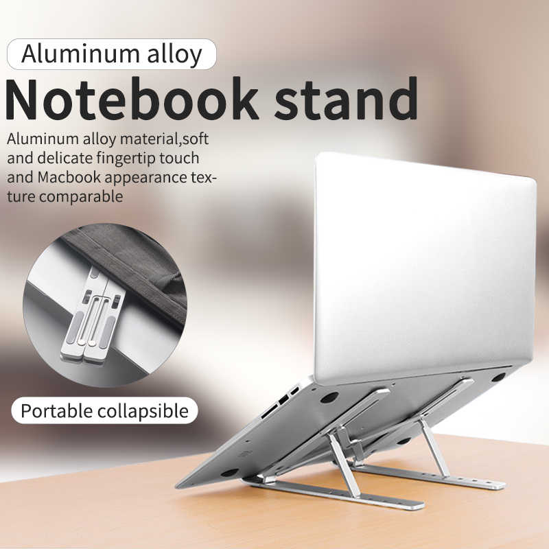 Aluminium Verstelbare Laptop Stand Folding Portable voor Notebook MacBook Computer Beugel Holder antislip