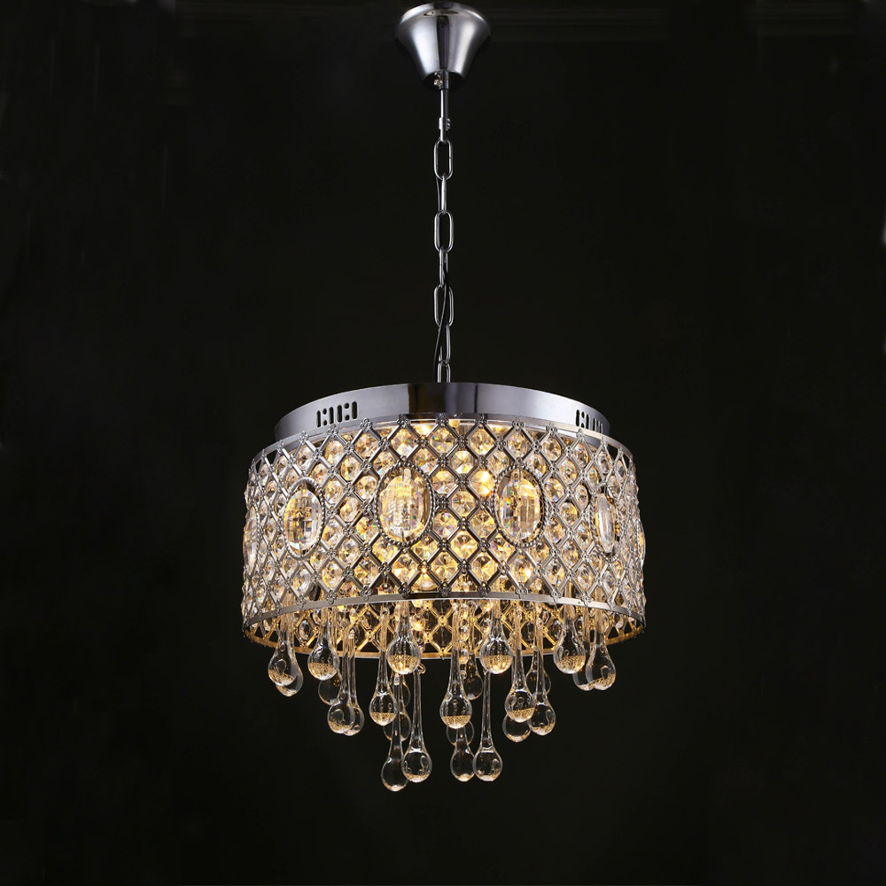 Fashion K9 crystal Chandeliers led lamps high quality Stainless steel led chandelier E14 led lustre lighting Chandelier Z35