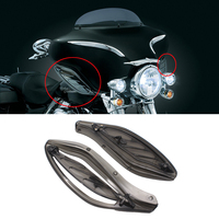 Smoke Adjustable Side Wing Deflector Cover For Harley Electra Glide Ultra 96 13