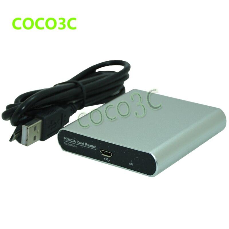 Envío Gratis USB 2,0 A 68pin Adaptador De Ranura PCMCIA Lector De Tarjetas De Ordenador Para SD/CF A Adaptador De Tarjeta De Ordenador Para Mercedes-benz