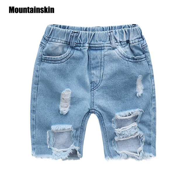 0f0d3956087 Mountainskin Summer Children s Ripped Short Jeans Baby Boy s Girl s Denim Short  Pants Kid s Casual Shorts Boy Short Pant SC848