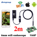 Iphone Endoscope 8mm Waterproof Borescope Inspection Wifi Endoscopio HD Android Endoskop Phone Android IOS Borescopio Camera