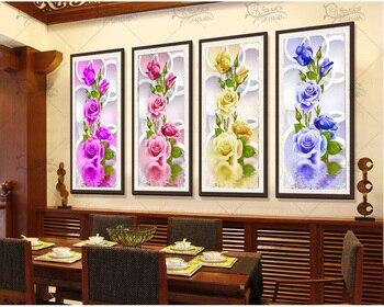 % Diy Diamond Painting Cross Stitch  Peony flower Diamond Embroidery Rubik