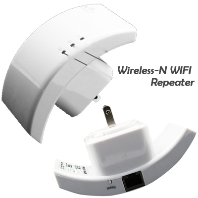 Wireless-N Wifi Repeater 802.11N/B/G Network Router Range Expander 300M , 2.4GHz,Free Shipping
