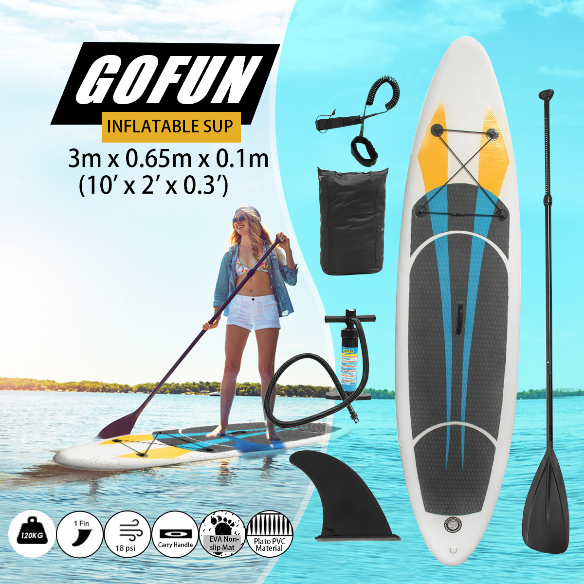 120KG 10FT SUP Inflatable Surfing Board Soft Surf Stand Up Paddle Board inflatable surf board sup paddle boat shoulder bag carry bag for inflatable boat kayak sup board stand up paddle surfing board pump oar dinghy raft surf board a05011