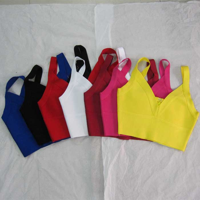 Bandage Tops Sling Multiple-Colour Sexy Fashion Deep V-Neck New-Top H0928 Factory-Wholesale