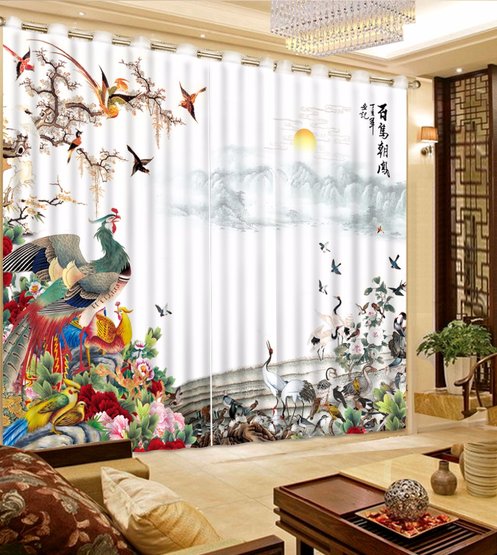 Cut Price Chinese Luxury Blackout 3d Curtains Living Room Bedroom