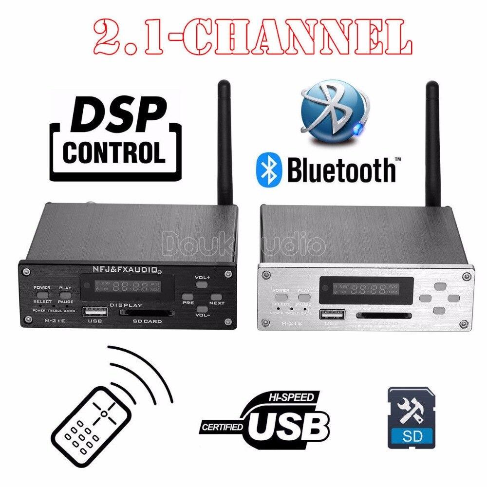 2018 новейший Nobsound 2,1 канал Bluetooth 4,0 высокомощный цифровой усилитель DSP HiFi Lossless аудио плеер маленький Настольный усилитель