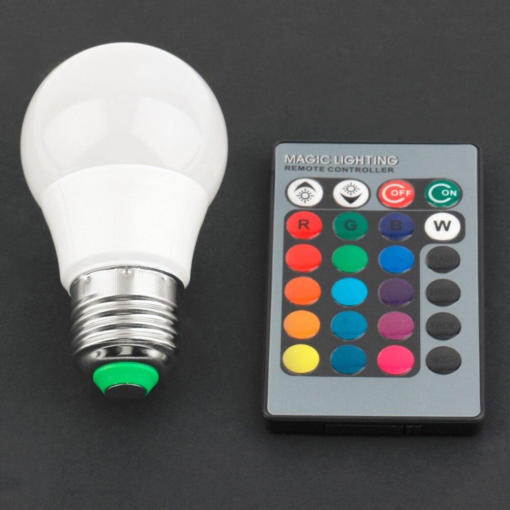 ICOCO RGB LED Bulb 3W/5W/10W LED Lamp Light LED Spotlight Spot Light Bulb Saving Light Power with Remote Control