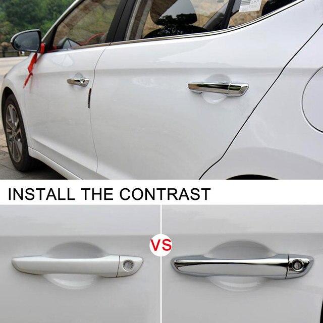 8pcs Abs Chrome Exterior Car Side Door Handle Cover Trim For Hyundai