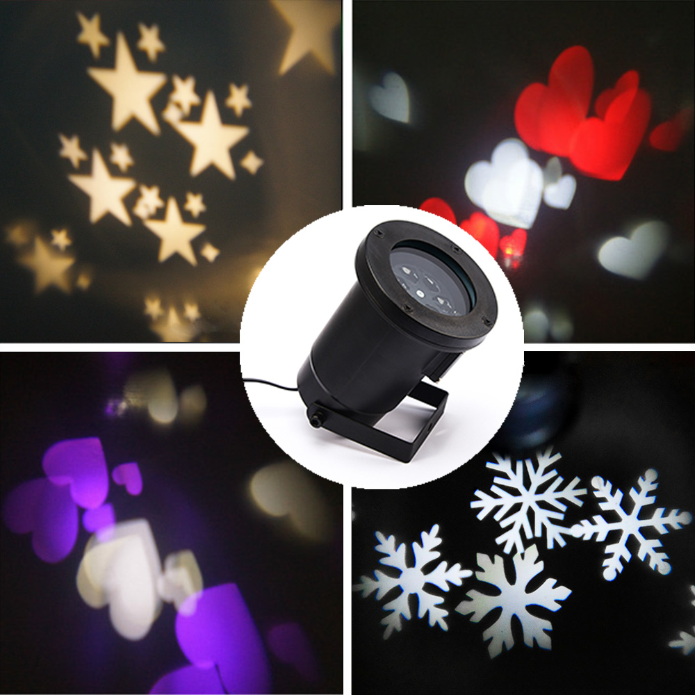 Snowflakes LED Stage Lights Holiday white Snow Sparkling Landscape Projector Lawn Garden Wall Decoration Lamp Outdoor IY902106 new in stock ve j62 iy vi j62 iy