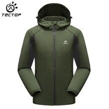 TECTOP Outdoor Jacket Breathable Light Weight Climbing Hiking Jacket Men Waterproof Trekking Camping Windbreaker Jacket Men