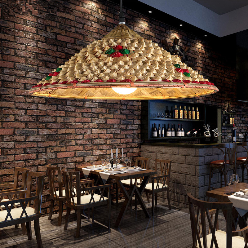 Bamboo Farmhouse Hat Bamboo pendant lights Chinese style Living restaurant exhibition hall Hand made bamboo pedant lamps ZA zb44 цена