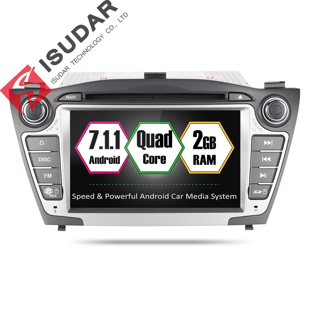 Isudar Car Multimedia Player Car Radio GPS Android 7.1.1 2 Din For Hyundai/IX35/TUCSON 2009-2015 OBD2 Bluetooth DSP 1080P Wifi 10 1 tda7851 android 7 1 for hyundai ix35 tucson 2015 2016 2017 2gb ram car dvd player gps map rds radio wifi 4g bluetooth 4 0