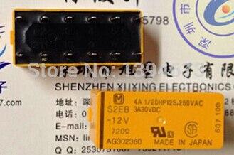 HOT NEW relay S2EB-12V S2EB 12V S2EB12V S2EB-12 12V 12VDC DIP12 2pcs/lot hot new relay hf6 73 5v hf6 relays 5v 5vdc dc5v 5v sop 2pcs lot