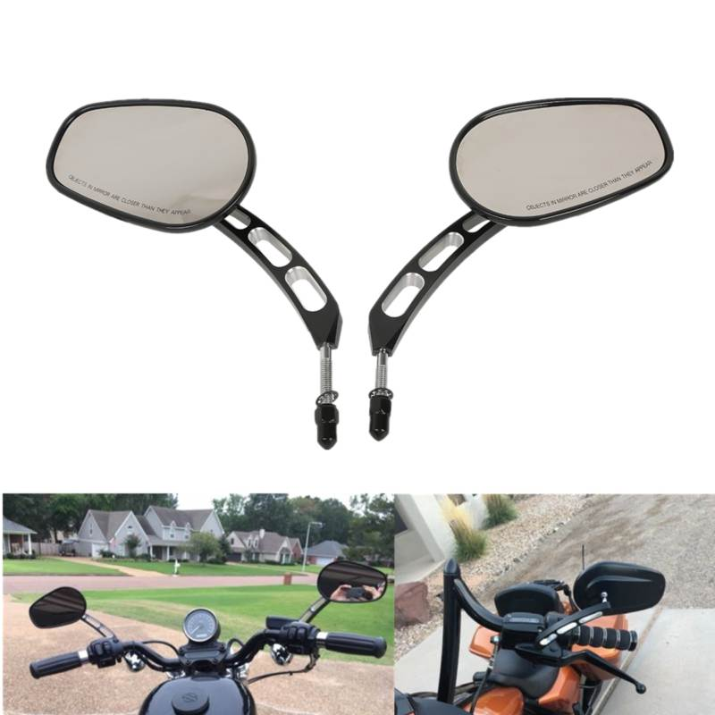 Motorcycle 8mm Rear View Mirrors For Harley Softail Springer Heritage Classic Road King Touring XL883 Sportster Fatboy Dyna FXDF in Side Mirrors Accessories from Automobiles Motorcycles