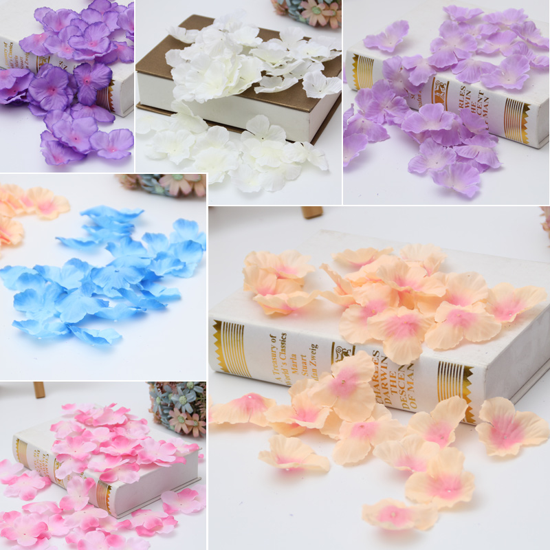 300pcs Cheap Artificial Flower Hydrangea Petals Wholesale For