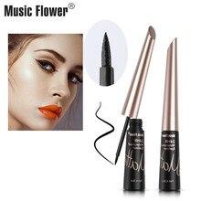 Makeup Eye Liner Music Flower Waterproof Liqiud Eyeliner Womens  Smudge-proof Delineador Black Eyelid Dropshipping Long-lasting