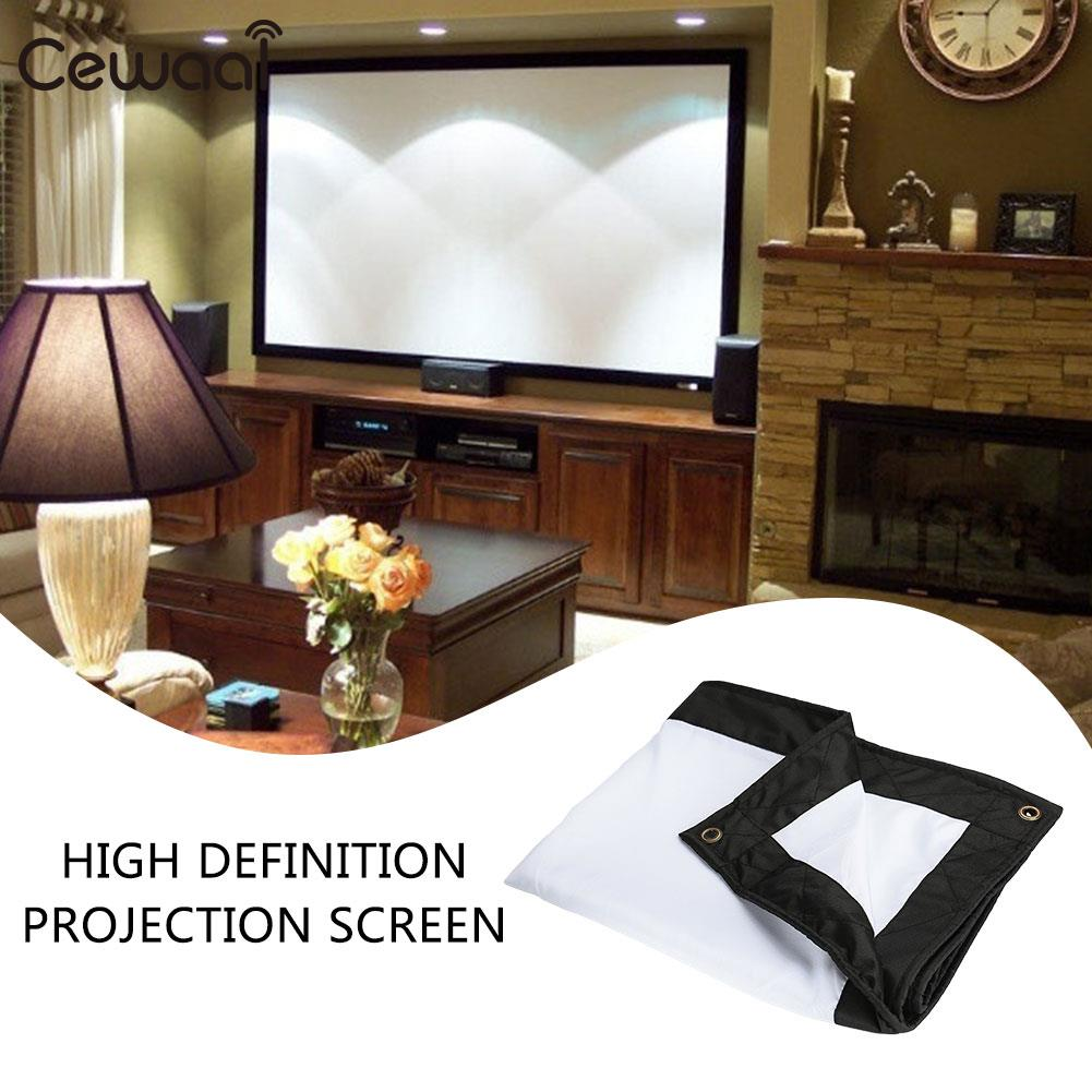 Durable Projection Screen Projector Curtain 4:3 Glass Yarn 100inch School Wedding Outdoor