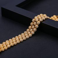 Luxury Gold color Bracelet and Bangle Man women Unisex multi layer jewelry Gift